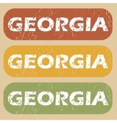 Vintage georgia stamp set vector
