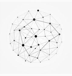 Wireframe mesh polygonal sphere network line vector