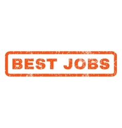 Best jobs rubber stamp vector