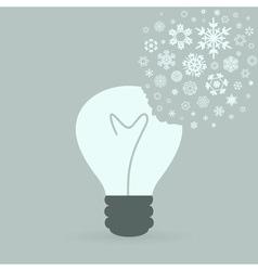 Snowflake a bulb2 vector image
