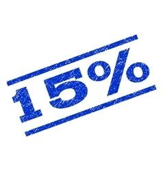 15 percent watermark stamp vector
