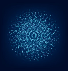 Blue light mandala abstract ornament vector