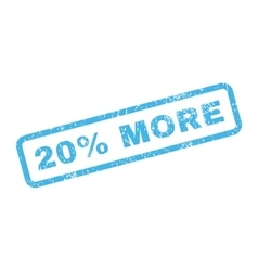 20 percent more text rubber stamp vector
