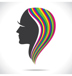 Colorful hair of beautiful women vector