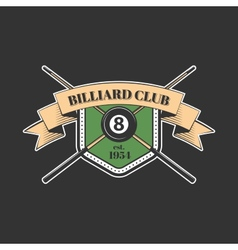 Billiards and snooker sports emblem vector