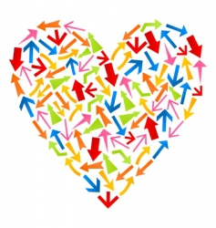Heart from arrows vector