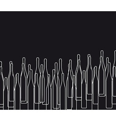 Background with bottles black vector