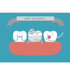 Hello halloween of dental vector