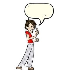 Cartoon angry man arguing with speech bubble vector