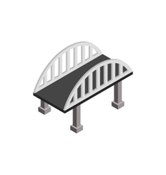Bridge with arched railings icon vector
