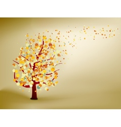 Abstract natural autumn background eps 8 vector