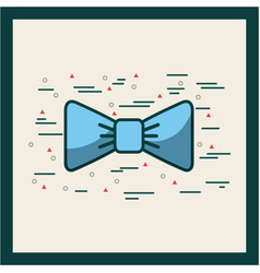 Baby blue bowtie image poster vector