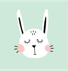 bunny head vector image vector image