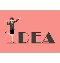 Business woman idea concept vector