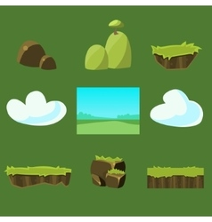 Cartoon nature landscape unending vector image vector image