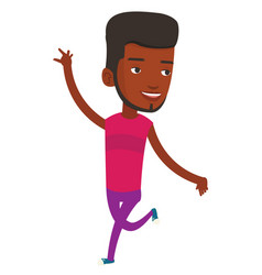Cheerful african-american man dancer dancing vector