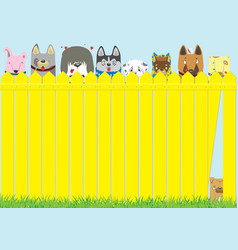 cute pets background vector image