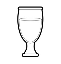 Drink glass design vector