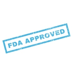 Fda approved rubber stamp vector