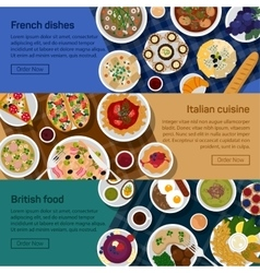 flat banners of british vector image