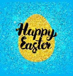 Happy easter glitter design vector