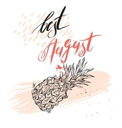 Hello August Text retail message Best for sale vector image