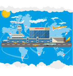 International airport concept vector