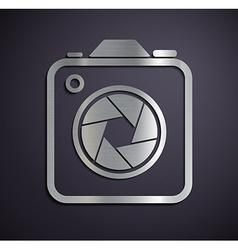 Logo of metal camera vector image vector image