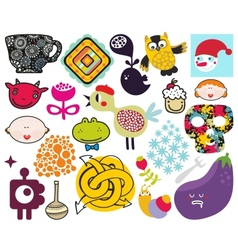 Mix of different images vol69 vector image vector image