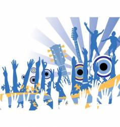 music celebration vector image vector image