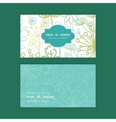 Mysterious green garden horizontal frame vector
