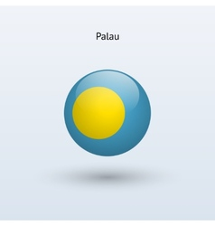 Palau round flag vector image vector image