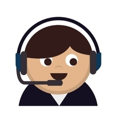 Person operator headset man vector