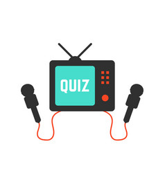 quiz on tv icon vector image