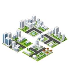 skyscraper kit metropolis vector image vector image