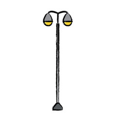 street lamp icon vector image vector image