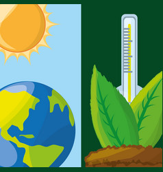 Temperature measurement in the ecosystem vector