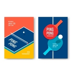 Ping-pong posters design vector