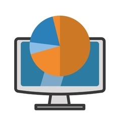 Computer gadget with media icon design vector