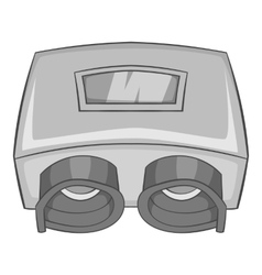 Eye checking machine icon gray monochrome style vector