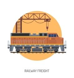 Railway freight concept vector