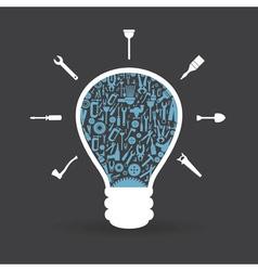 Tool a bulb vector image