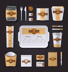 Fastfood Restaurant Corporate Design vector image