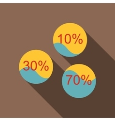 Percent showing infographics icon flat style vector