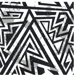 Monochrome grunge seamless pattern vector