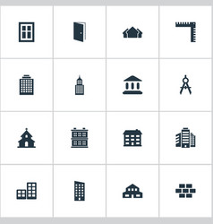 set of simple construction vector image
