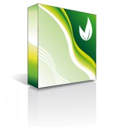3d software box vector image