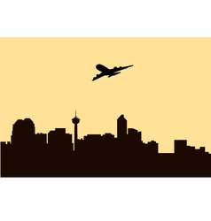 Fly Over Morning City vector image