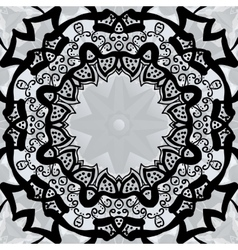 Black stylized frame over symmetry gray wallpaper vector