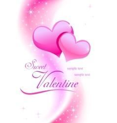 Valentine background wiht hearts vector image